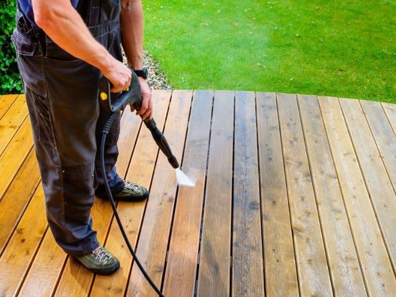 image of wet deck